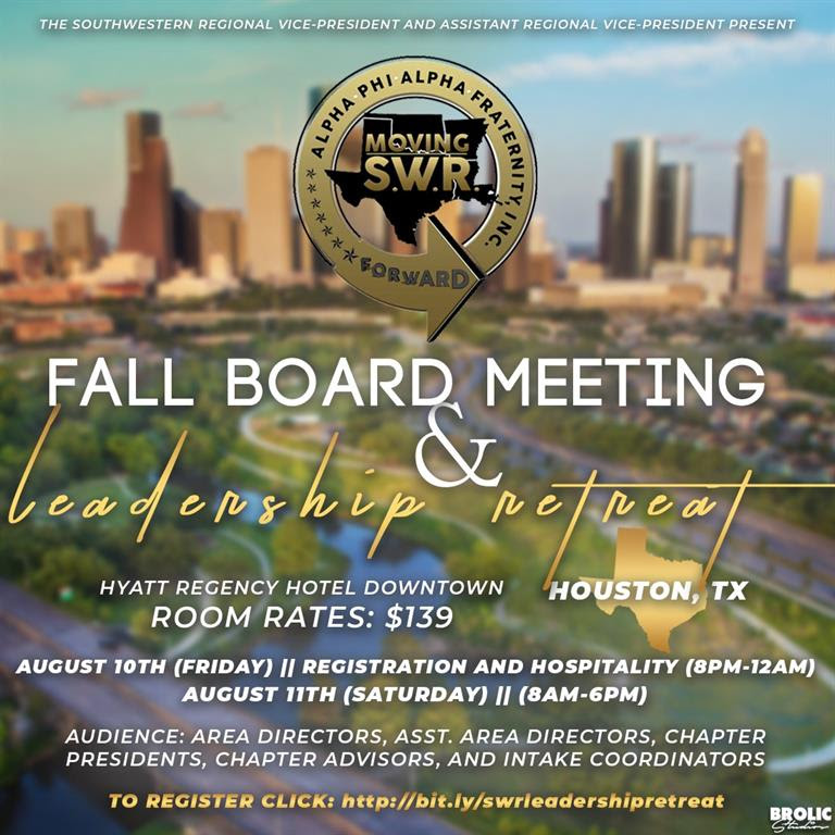 SouthWest Regional Fall Board Meeting & Leadership Retreat 2018